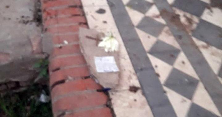 Amenazaron a la familia de Lucero con una lápida