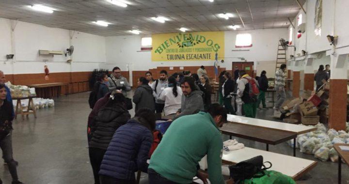 La Municipalidad de Santa Rosa colaboró en la entrega de alimentos a afiliados al Pami