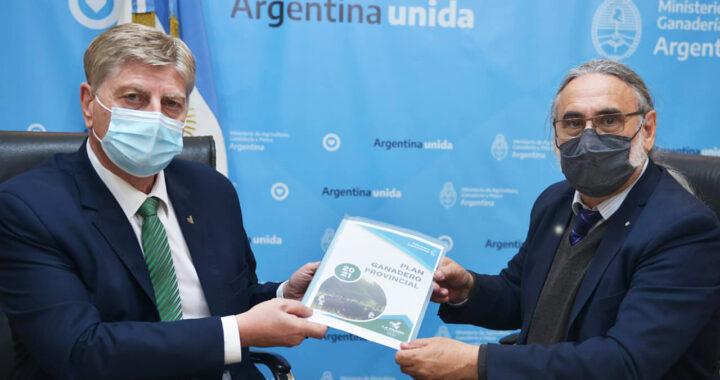 Ziliotto presentó a Basterra los lineamientos para actualizar y reformular el Plan Ganadero Provincial con apoyo del Gobierno Nacional